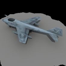 e6 美航母 舰载多用途军机-飞机-军事飞机-CG模型-3D城