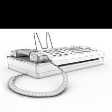 传真机-生活办公用品-办公用品-CG模型-3D城
