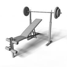 健身器材 摆放架-体育_爱好-CG模型-3D城
