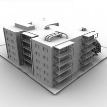 居民区-室外建筑-住宅-CG模型-3D城