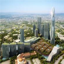 城市中心花园建筑群-室外建筑-商业&办公-CG模型-3D城