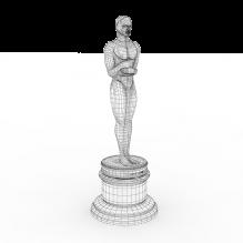奥斯卡小金人-艺术-艺术品-CG模型-3D城