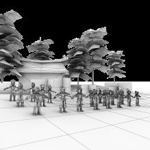 韩国游戏热血江湖男角色群模-人物&角色-角色-CG模型-3D城