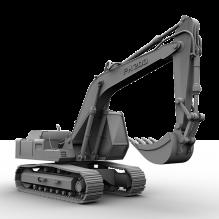 挖土机-工业设备-机器设备-CG模型-3D城