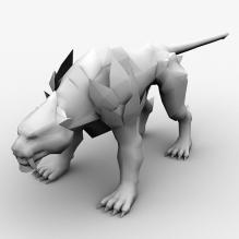 黑虎 -动物-科幻-CG模型-3D城