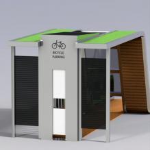 自行车停车点-室外建筑-基础设施-CG模型-3D城