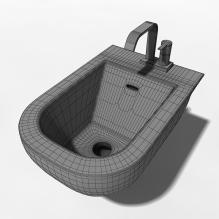 白色洗手台-室内建筑-卫浴-CG模型-3D城