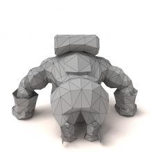饕餮-动物-科幻-CG模型-3D城
