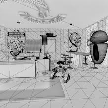 客厅-室内建筑-客厅-CG模型-3D城