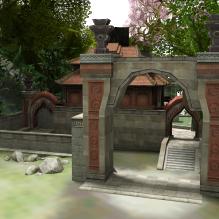 诛仙场景焚香谷山河殿-室外建筑-古建筑-CG模型-3D城