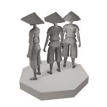 戴草帽的男孩-人物_角色-小孩-CG模型-3D城