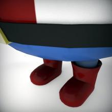 小黄人_美国队长版_-人物_角色-角色-CG模型-3D城