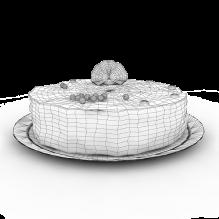 生日蛋糕-食品-杂食-CG模型-3D城