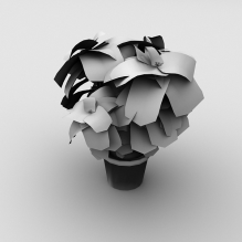 poinsettia-植物-盆栽-CG模型-3D城