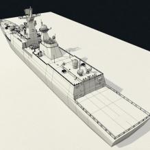 538烟台号护卫舰-船舶-军事船舶-CG模型-3D城