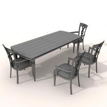 桌椅组合-家居-桌椅-CG模型-3D城