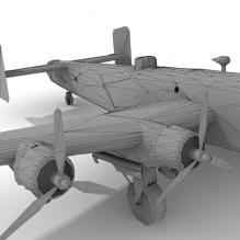 哈利法克斯重型轰炸机-飞机-军事飞机-CG模型-3D城