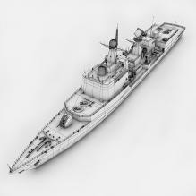 石家庄116号导弹驱逐舰-船舶-军事船舶-CG模型-3D城