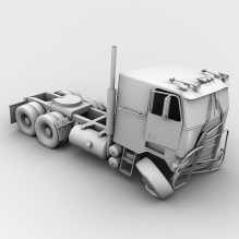 被击毁的卡车-汽车-卡车-CG模型-3D城