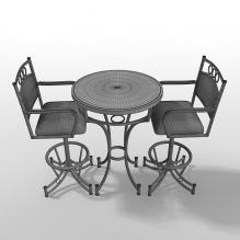 商用餐桌椅-家居-桌椅-CG模型-3D城