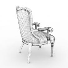 扶手椅-家居-桌椅-CG模型-3D城