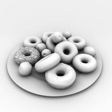 甜甜圈-食品-杂食-CG模型-3D城
