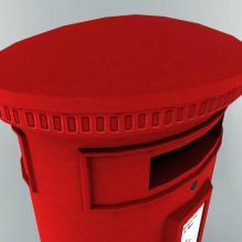 英国信箱-室外建筑-基础设施-CG模型-3D城