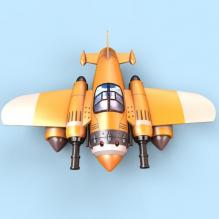 全民飞机大战飞机-艺术-个性创意-CG模型-3D城