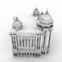 欧式建筑-室外建筑-住宅-CG模型-3D城