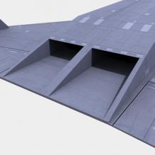 美国一款未来战机-飞机-军事飞机-CG模型-3D城