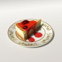 果酱芝士蛋糕-食品-杂食-CG模型-3D城
