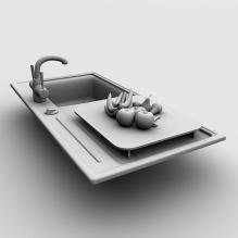 洗碗池-室内建筑-厨房-CG模型-3D城