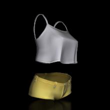 吊带衫-生活办公用品-服装饰品-CG模型-3D城