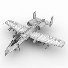 A-10 Thunderbolt-飞机-军事飞机-CG模型-3D城
