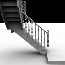 欧式实木楼梯-室内建筑-其它-CG模型-3D城
