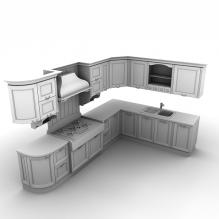 整体厨房-建筑-厨房-VR/AR模型-3D城