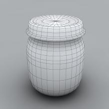苹果酱-食品-杂食-CG模型-3D城