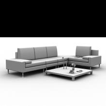 白色现代沙发-家居-沙发-CG模型-3D城