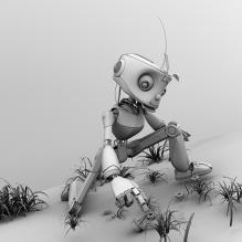 小机器人-人物_角色-角色-CG模型-3D城