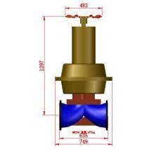 常闭型气动隔膜阀DN250 PN1(气动头ES66)_程序生成