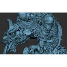 精美鱼兽观音坐像-艺术-艺术品-CG模型-3D城