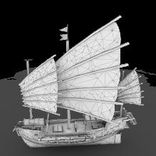 古代木帆船-船舶-其它-CG模型-3D城