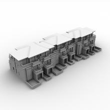 居民公寓-室外建筑-住宅-CG模型-3D城