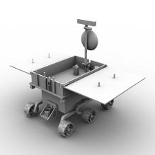玉兔号月球车-科技医疗-航天卫星-CG模型-3D城