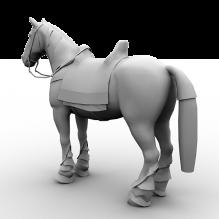 Horse-动物-哺乳动物-CG模型-3D城