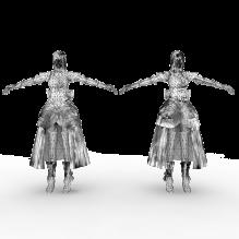 卓越之剑帅气武士美眉-人物_角色-女人-CG模型-3D城