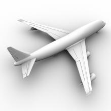 波音747英航-飞机-喷气-CG模型-3D城