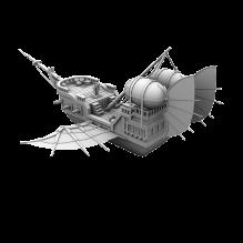 中国风飞船-飞机-私人飞机-CG模型-3D城