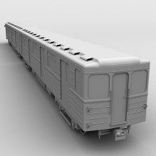 轻轨-汽车-火车-CG模型-3D城