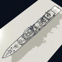113青岛号导弹驱逐舰-船舶-军事船舶-CG模型-3D城